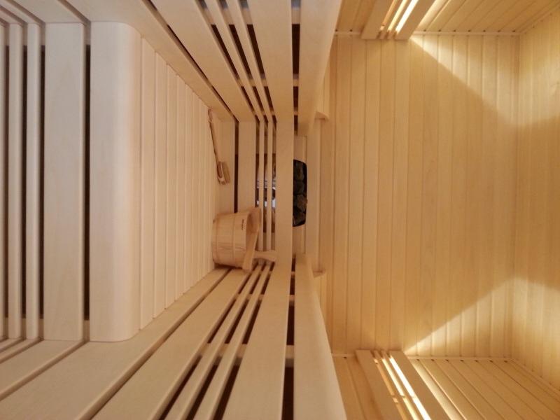 Finská sauna - osvětlení